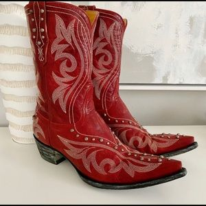 Old Gringo Red Studded Cowboy Boots